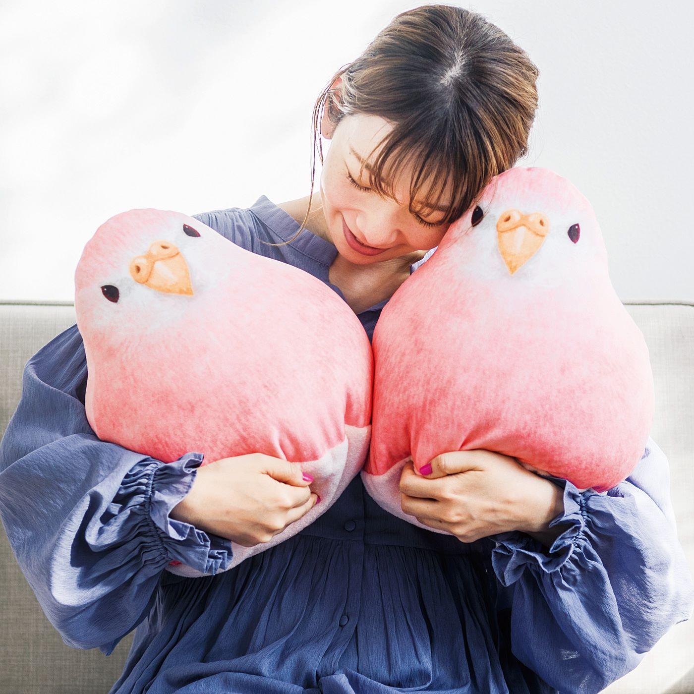 【もっちり愛らしいアキクサインコクッション】フェリシモの大人気小鳥ビーズクッションに新作登場